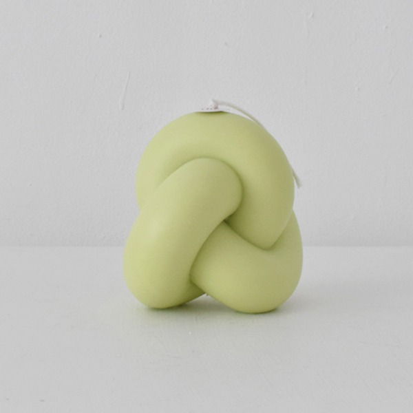 TUBE KNOT CANDLE 1 - LIME