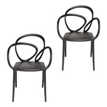LOOP CHAIR - BLACK (SET OF 2)