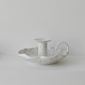 SPONGEWARE HANDLE CANDLE HOLDER - SANDY GRAY